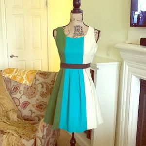 Anthropologie Tabitha Colorblock dress